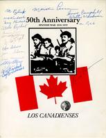 Signed Promotional Advertisements for Los Canadienses, 1989