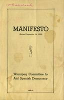 Manifesto: Winnipeg Committee to Aid Spanish Democracy (Revised)