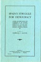 Spain's Struggle for Democracy
