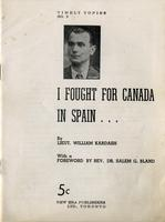 I Fought for Canada in Spain...