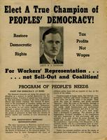 Elect A True Champion of Peoples' Democracy!