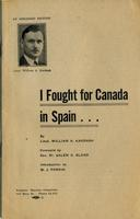 I Fought for Canada in Spain: An Abridged Edition
